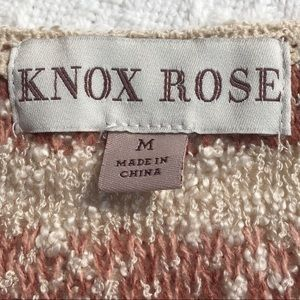Knox Rose Sweaters - LACE-UP STRIPED SWEATER by KNOX ROSE